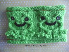 Happy Hopper Frogs Headband/Earwarmer, from Made In Kansas by Rosi, on Facebook.