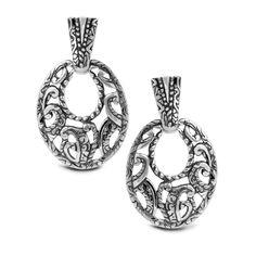 Carolyn Pollack Jewelry   Silver Rodeo Sterling Drop Earrings