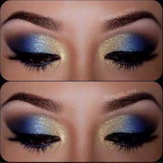Azul dourado make poderosa