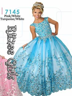 <p> Wow the crowd in this Ritzee Girls pageant dress and look stunning. This Ritzee Girls pageant dress 7145 features a scoop neckline with cap sleeves, dazzling fitted  bodice embellished with sparkly jewels, and a cutout back. A ball gown skirt with circular beads completes this Ritzee Girls pageant dress. This Ritzee Girls pageant dress is finished with a lace up back for a perfect fit.</p> <p>  <strong>Features: Cap Sleeves</strong></p> <ul> <li> Silhouette: Ball Gown</li>  <li…