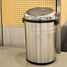 simplehuman cw1407 brushed stainless open can bullet large trash