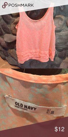 Pink shear top Shear tank with shear cami underneath. Very flirty and fun. Tops