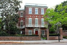 The Best of South Carolina: Nathaniel Russell House - 51 Meeting Street.  Note the re-painted white iron balcony;  this was the original colour.