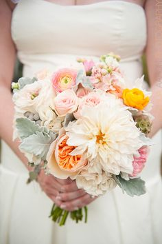 stunning garden roses in blush with carnations instead of ranunculus