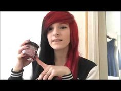 How I Dyed My Hair Half Red Half Black!