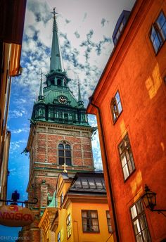 Tyska kyrkan (German Church) in Gamla Stan, Stockholm, Sweden Montenegro, The Places Youll Go, Places To Visit, Kingdom Of Sweden, Malta, Backpacking Asia, Scandinavian Countries, Stockholm Sweden, Stockholm Travel