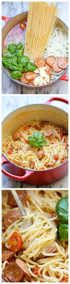 One Pot Pasta - the pasta gets cooked right in the pot. How easy is that?!