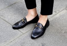 Victoria Tornegren wearing Gucci loafers
