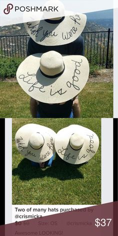 bff97a587bbce 5⭐️RATED ☀ 🌴Sequin Floppy Beach Hats Choose your favorite saying below.