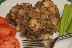 Oven Crawfish Rice Dressing Casserole