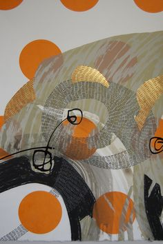 Steph Houstein: New 'Bonescapes' silkscreen, gold leaf & mixed media [yet to be numbered]