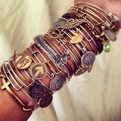 Cant wait to get some for myself! Alex and Ani bangles