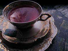 Picture it & Write December 4th, 2011. - blood tea, teacup, fine china