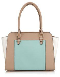 Textured Winged Shoulder Bag | Blue | Accessorize