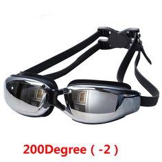 Multi Prescription Optical Myopia Nearsight Goggle Glasses Sportswear Silicone Polycarbonate Lens Anti-fog Coated Watertight