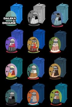 The Daleks as the Doctors.