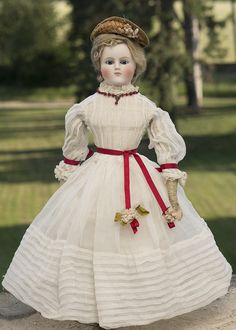 "17"" Antique Early German French Fashion doll from respectfulbear on Ruby Lane"
