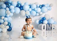 1 Year Old Birthday Party, Rainbow First Birthday, Boys First Birthday Party Ideas, 1st Birthday Photoshoot, Baby Boy First Birthday, First Birthday Decorations, Birthday Backdrop, Boy Birthday Parties, Boy Birthday Pictures
