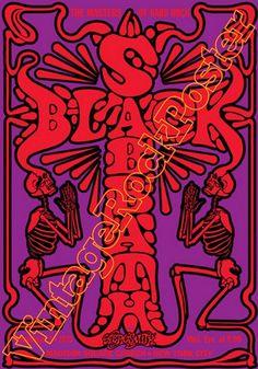 057 - BLACK SABBATH  + Aerosmith - New York, Us - 3 december 1975 - artistic concert poster
