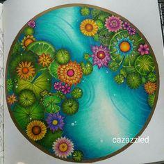 Johanna basford magical jungle colouring by colourist cazazzled