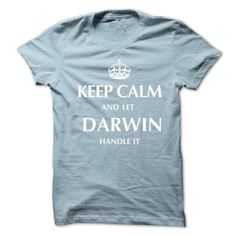 Keep Calm and Let DARWIN  Handle It.New T-shirt - #estampadas sweatshirt #sweater knitted. THE BEST  => https://www.sunfrog.com/No-Category/Keep-Calm-and-Let-DARWIN-Handle-ItNew-T-shirt.html?id=60505
