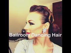 "Standard ""Low Bun W/ Swirls"" Hairstyle Tutorial - Dance Comp Review"