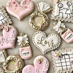 Aimee K added a photo of their purchase Valentines Day Cookies, Birthday Cookies, Reindeer Cookies, Christmas Cookies, Recipe For Marriage, Engagement Cookies, Valentine's Day Sugar Cookies, Patisserie Cake, Small Batch Baking