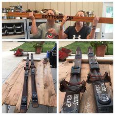 "16 Likes, 3 Comments - Lisa Meyer (@holycrapcraftco) on Instagram: ""Antique skis + shot glasses+ a little ""holy crap"" , tested of course  SHOTSKI @holycrapcraftco…"""
