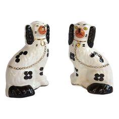 Pair of Staffordshire Dogs - $750 Est. Retail - $325 on Chairish.com