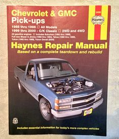Free download ford ranger and mazda pick ups haynes repair manual vintage haynes repair manual for 1988 thru 1998 chevrolet gmc pick ups for all fandeluxe Images