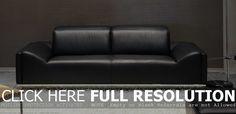 modern style sofa black leather