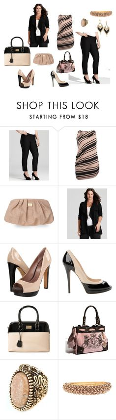 """""""Taupe and Black"""" by couldbecassie ❤ liked on Polyvore featuring Eileen Fisher, Gorgeous, Giuseppe Zanotti, Vince Camuto, Casadei, Paul's Boutique, Juicy Couture, Roberto Cavalli, SuperTrash and LK Designs"""
