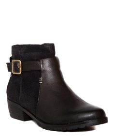 Black Leather 444 Ankle Bootie | Daily deals for moms, babies and kids