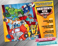 Rescue Bots Invitation por kidspartydiy en Etsy