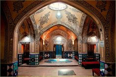 Old Hammam,Kashan, Iran Organic Architecture, Islamic Architecture, Art And Architecture, Turkey Hotels, Leading Hotels, Best Hotel Deals, Green Life, Holiday Photos, Worlds Largest