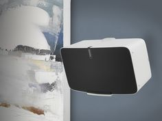 Designed to perfectly fit the second-generation SONOS this new Flexson wall-mount bracket is as strong as it is discreet. The Flexson Wall Mount for SONOS securely holds the speaker in landscape position, from where it can be swi Sonos Play 5, Speaker Wall Mounts, Wall Mount Bracket, Wall Installation, Cool Things To Buy, Tilt, Speakers, Bespoke