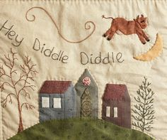 Nursery Rhyme Block of the Month Quilt Pattern Set   Stitching Cow