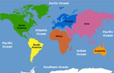 Map of 7 continents and 5 oceans digital computer graphics map of brainpop jr continents and oceans lesson ideas gumiabroncs Gallery