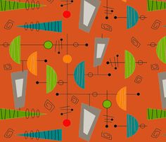 Atomic Era Abstract III fabric by egnatz on Spoonflower - custom fabric