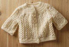 Best Baby Sweater Pattern - Knitting Patterns and Crochet Patterns from KnitPicks.com by Elizabeth Zimmermann