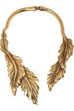 Oscar de la RentaGold-plated leaf necklace
