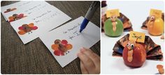Turkey place cards for your Thanksgiving Wedding! DIY Thanksgiving Turkey Wedding Crafts | Green Bride Guide