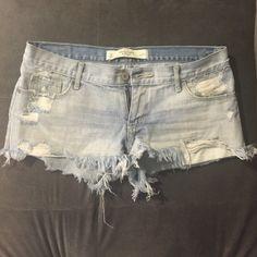 light blue jeans shorts A & F jeans shorts, size 4 (27) Abercrombie & Fitch Shorts Jean Shorts