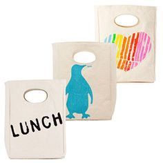 Organic Cotton Lunch Bags: These #eco-friendly lunch bags by Fluf packs all of the things you want in your kid's lunch, and none of the things you don't. Durable and roomy space for kids and grown ups alike. Made from 100% certified organic cotton and printed with low-impact, azo-free dyes. Tested food-safe lining (phthalate-, bpa- and lead-free) Snap closures (easy for small hands!) Preshrunk and fully machine washable. Easy to keep clean, functional, durable and - above all - healthy and…