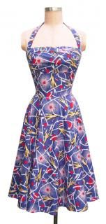 I have this dress too. How could a dyed in the wool geek girl resist a sci-fi rockets pattern?