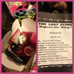 Bachelorette survival kit. Must have items for an amazing night