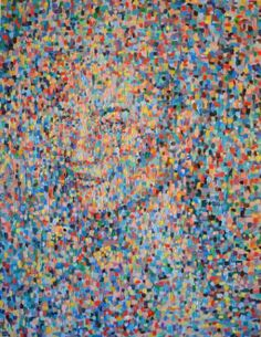 """Saatchi Art Artist Dejan Bozinovski; Painting, """"Point  Portrait"""" #art"""