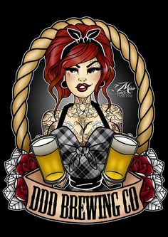 This Beauty is ready for some Sexy Beer Labels!  Designed by Miss Cherry Martini