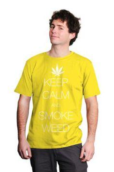 Keep calm weed   Animales y naturaleza   Vida salvaje     Poleras y Polerones Estampadas  MangaCorta