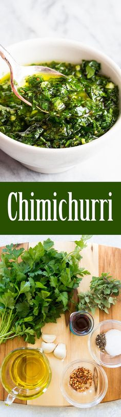Chimichurri! An Argentinean pesto perfect with steak and seafood. Takes less than 10 minutes to make!